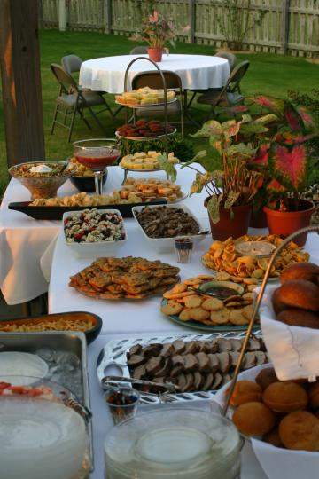 Variety of Appetizers at Party